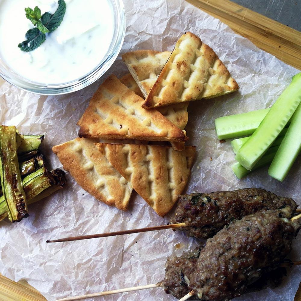 beef-gyros-zucchini-tzatziki-sauce