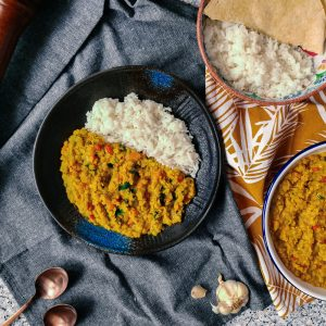 indian-dal-with-red-lentils-and-jasmine-rice