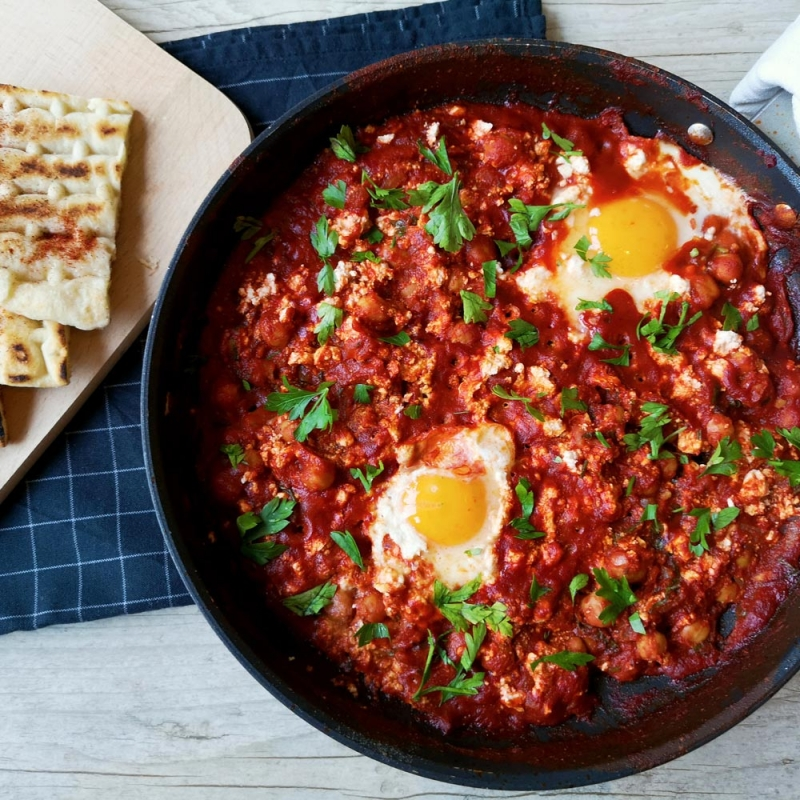 Shakshuka–spicy-vegetarian-meal
